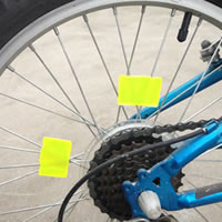 bicycle spoke reflective sticker how to fix