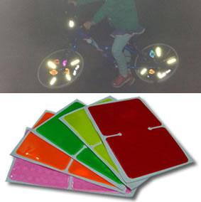 bicycle spoke reflective sticker