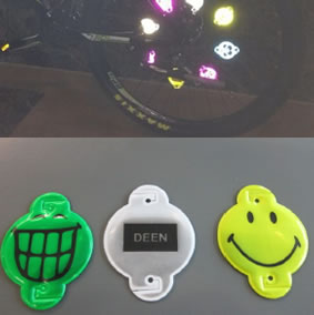 bicycle spoke soft reflector clip